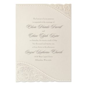Divine Day on Ecru Shimmer Wedding Invitation Icon