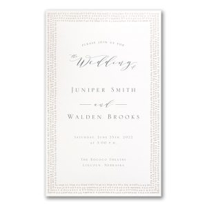 Dotted Border in White Wedding Invitation Icon