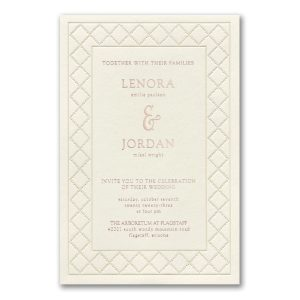 Dotted Link in Ecru Wedding Invitation Icon