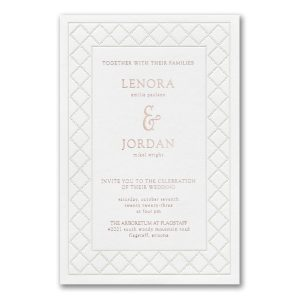 Dotted Link in White Wedding Invitation Icon