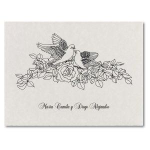 Doves in Love Wedding Invitation Icon