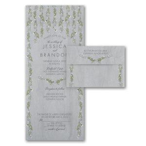 Draped Vines Seal 'n Send Wedding Invitation Icon