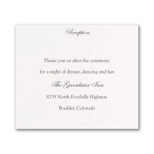 Ebony Amour Reception Card