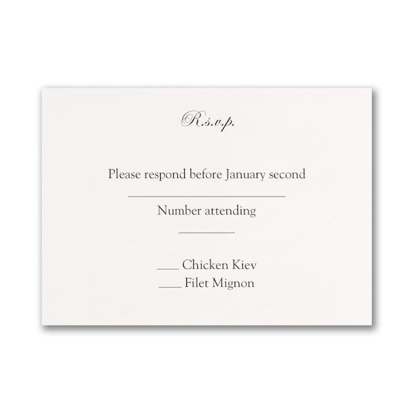 Ebony Amour Response Card