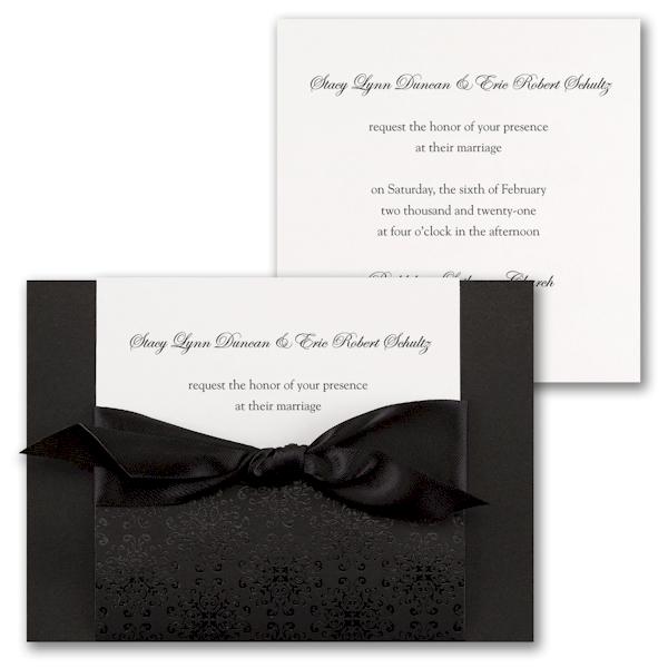 Ebony Amour Wedding Invitation