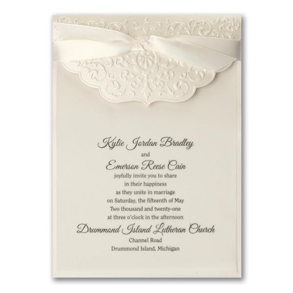 Ecru Whisper Wedding Invitation