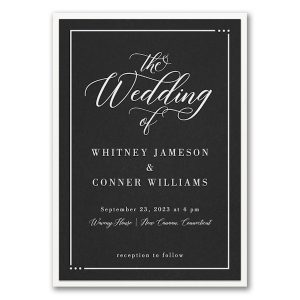 Edged Layered Wedding Invitation Icon