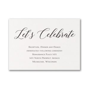 Elegant Beauty Reception Card