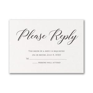 Elegant Beauty Response Card