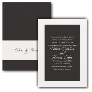 Elegant Beauty Wedding Invitation