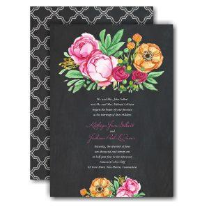 Elegant Bouquet Wedding Invitation Icon