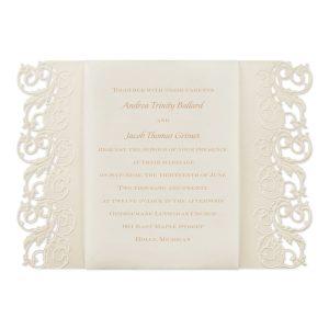 Elegant Edges Wedding Invitation