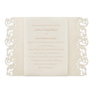 Elegant Edges Wedding Invitation Icon