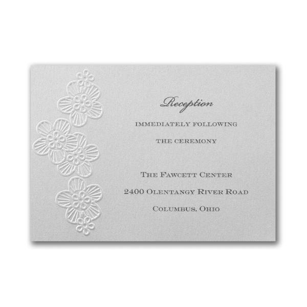 Elegant Floral Lace Reception Card