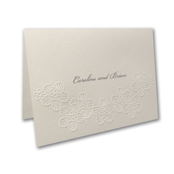 Elegant Floral Lace Thank You Note