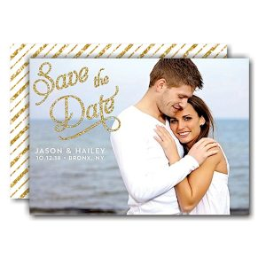 Elegant Glitter Save the Date Card Icon