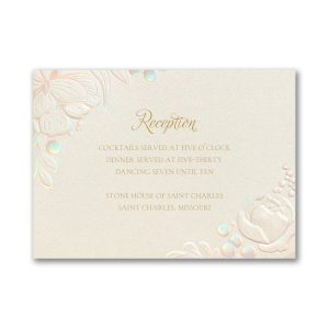 Enchanted Blooms in Ecru Reception Card