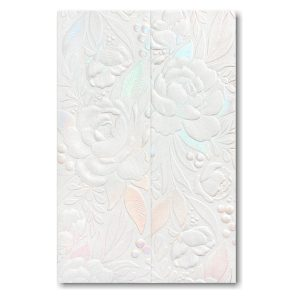 Enchanted Blooms in White Wedding Invitation Icon