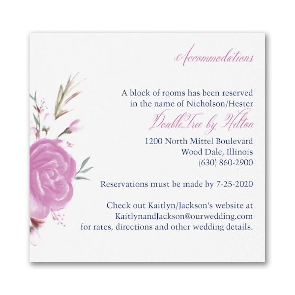 Enchanted Garden Accommodation Card