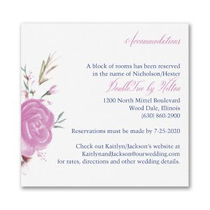 Enchanted Garden Layered Accommodation Card