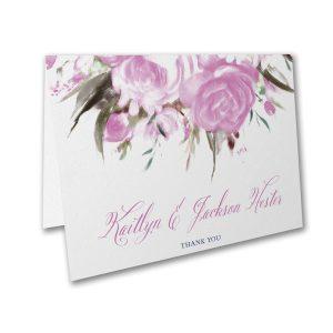 Enchanted Garden Layered Pocket Thank You Note