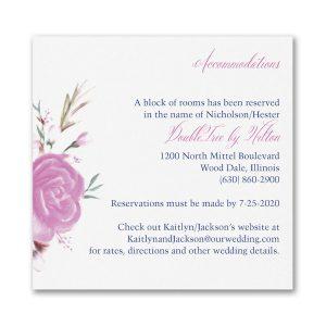 Enchanted Garden Pocket Accommodation Card