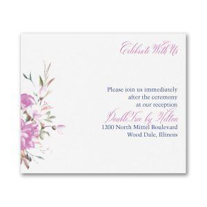 Enchanted Garden Pocket Reception Card