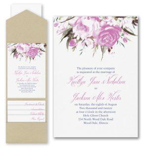 Enchanted Garden Pocket Wedding Invitation