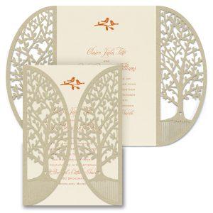 Enchanted Garden Trees Wedding Invitation Icon