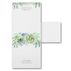Enchanted Watercolor Seal 'n Send Wedding Invitation alt
