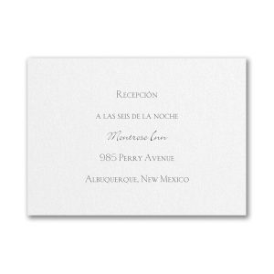 Endless Love Reception Card