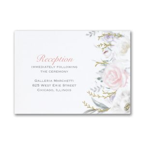Ethereal Floral Reception Card