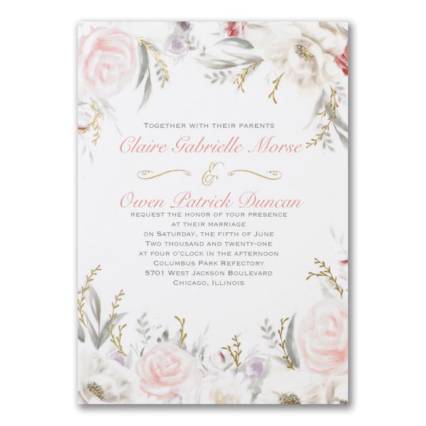 Ethereal Floral Wedding Invitation