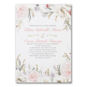 Ethereal Floral Wedding Invitation Icon