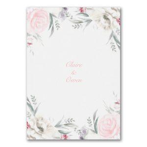 Ethereal Floral Wedding Invitation alt