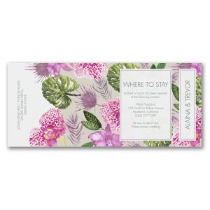 Exotic Orchids All in One Wedding Invitation alt