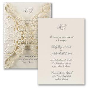 Exquisite Lace Wedding Invitation Icon
