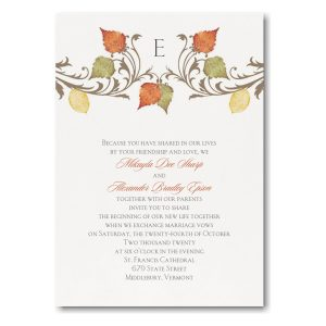 Fall in Love ValStyle Wedding Invitation Icon