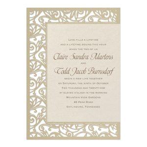 Fancy Detail in Ecru Wedding Invitation Icon