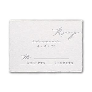 Feather Deckle in Pearl Response Card