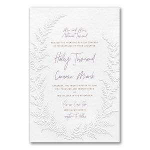 Fetching Fern in White Wedding Invitation Icon