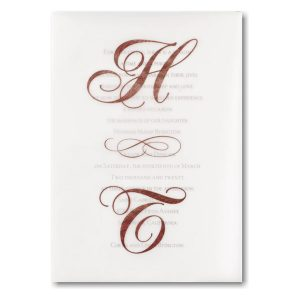 Filigree Letters Wedding Invitation Icon