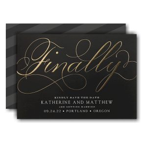 Finally Forever Save the Date Card