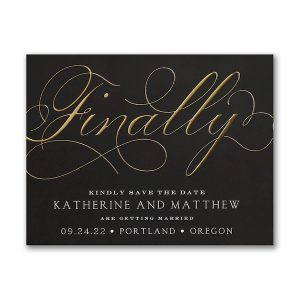 Finally Forever Save the Date Magnet