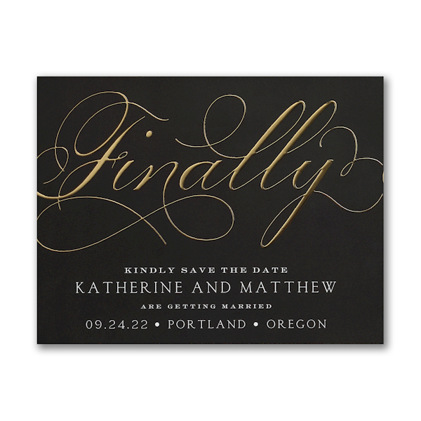 Finally Forever Save the Date Magnet Icon