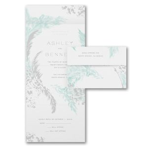 Fine Feathers Seal 'n Send Wedding Invitation Icon