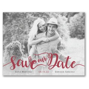 Flirty Date Save the Date Card Icon