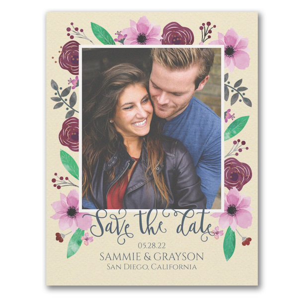 Floral Adoration Save the Date Magnet Icon
