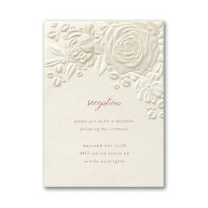 Floral Bouquet on Ecru Reception Card