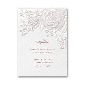 Floral Bouquet on White Reception Card